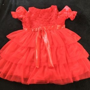 Other - toddler formal party tulle red flower girl dress